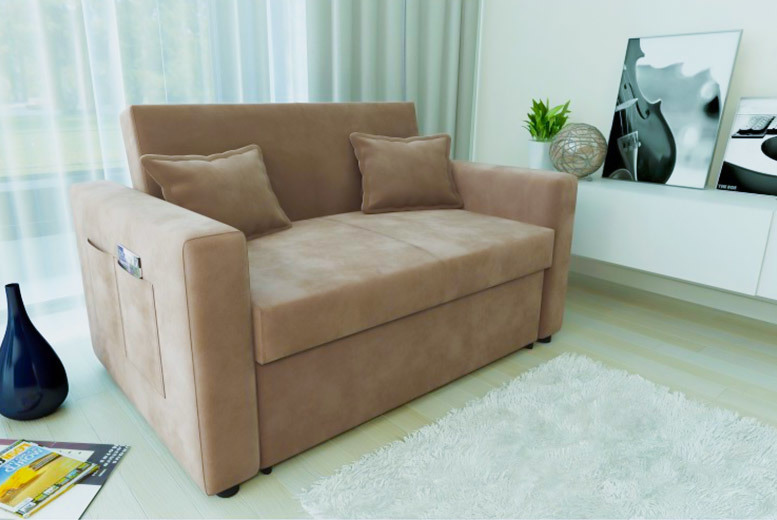 Two-Seater Sofa Bed – 2 Colours! for £269