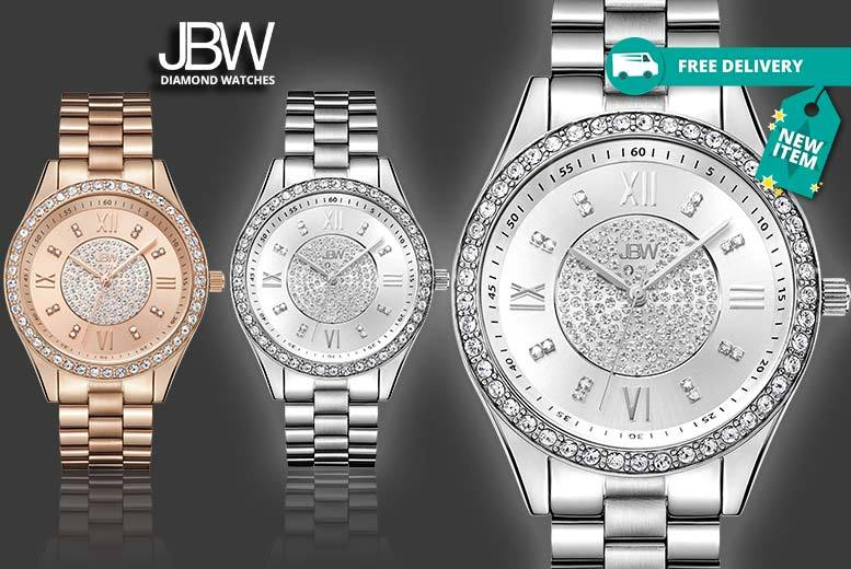 Ladies JBW Crystal Luxury 'Mondrian' Watch - 4 Designs!