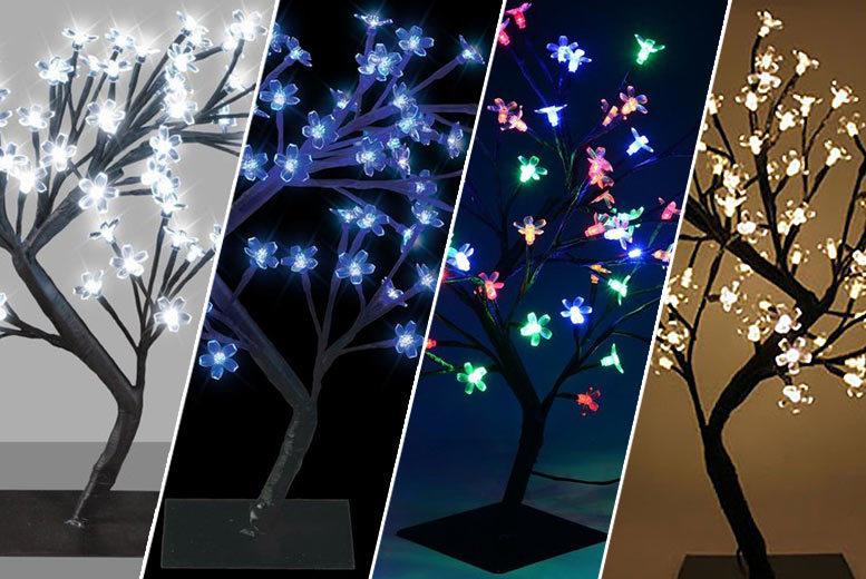 LED Bonsai Style Tree – 4 Colours! for £12