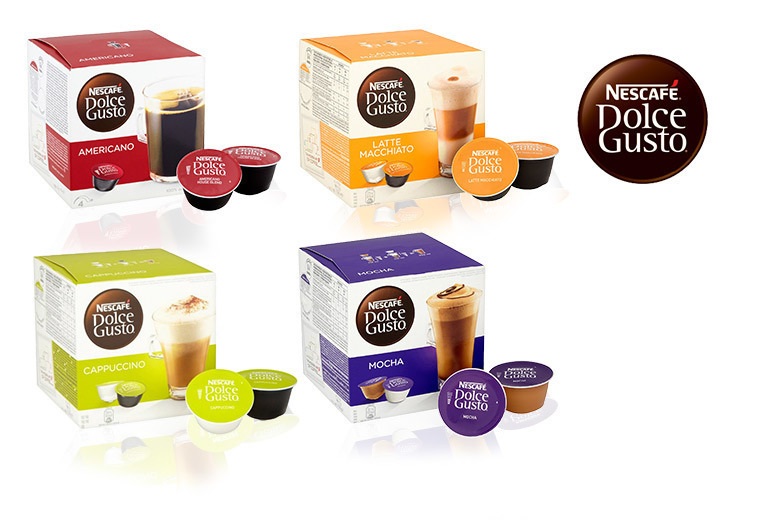 48 Nescafe Dolce Gusto Pods – 4 Flavours! for £10.98