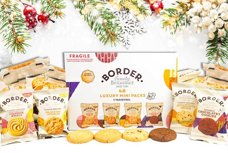 48 or 100 Border Christmas Biscuits – 4 Flavours from £11.99
