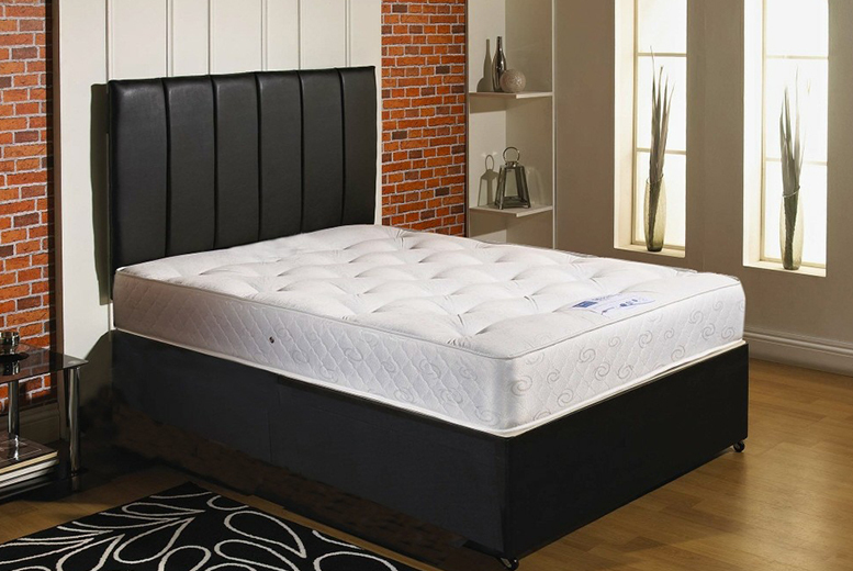 Faux Leather Divan Bed & Orthopaedic Mattress