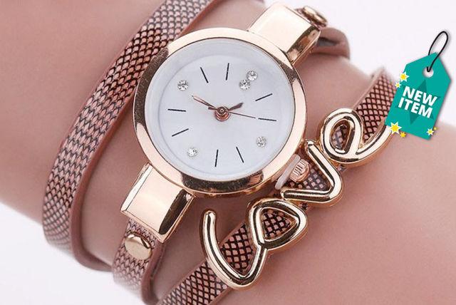ladies snake strap love wrap watch