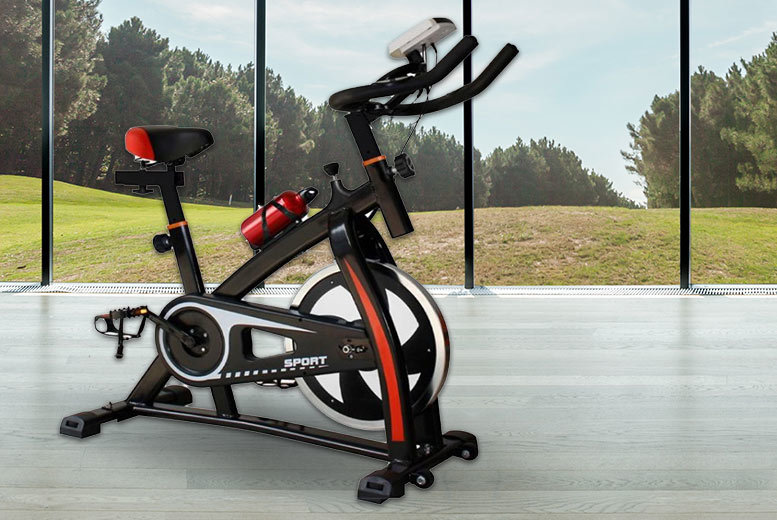 18kg Weighted Flywheel Exercise Bike for £159
