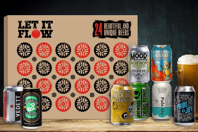 24 Craft Beer Advent Calendar with Chalice – Brewdog & More! for £69