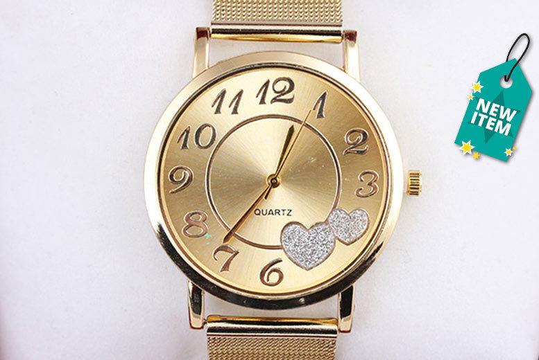 Ladies' Love Heart Mesh Watch