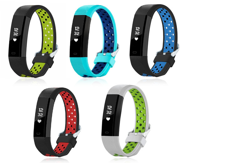 Beta V3 Fitness Tracker w/ Heart Rate Monitor – 5 Colours! for £19