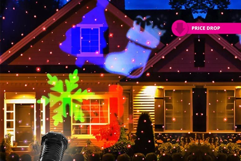 Motion LED Laser Christmas Projector for £19