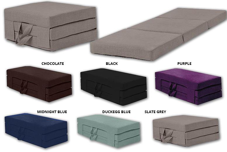 Foldable Guest Mattress - 2 Sizes, 6 Colours!