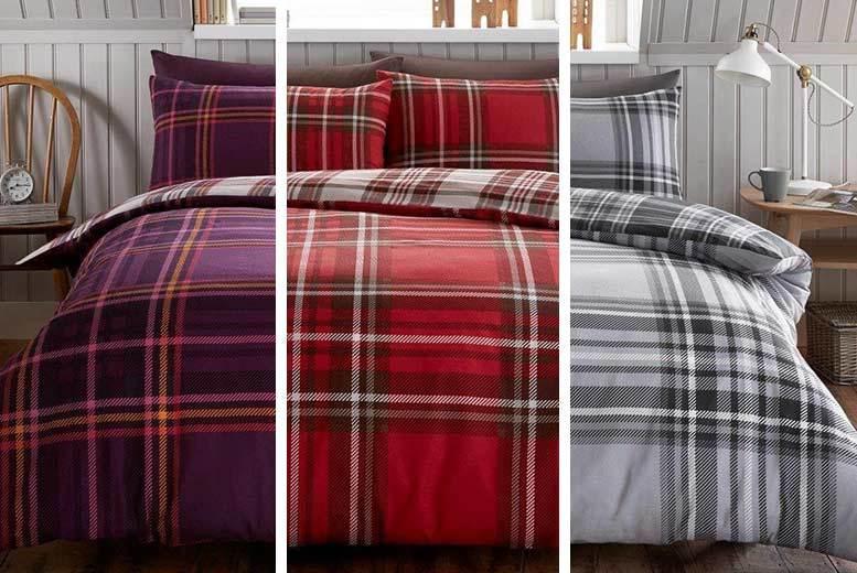 Flannelette Duvet Quilt Cover Set- 3 Colours & 2 Sizes!