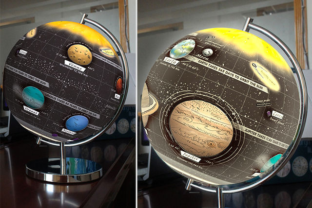 Light Up Solar System Globe Shop Wowcher