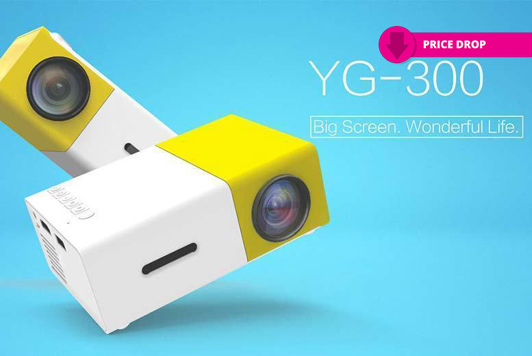 Mini Yellow LED YG-300 Projector for £34.99