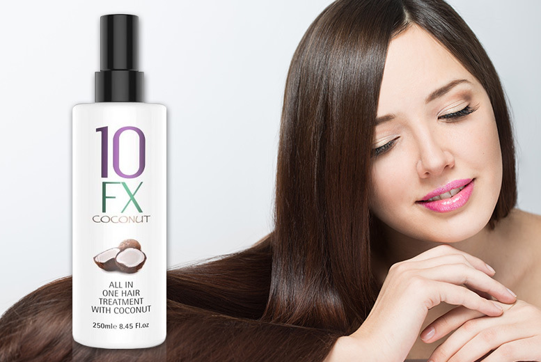 10FX 250ml Coconut Leave-In Hair Treatment for £7.99