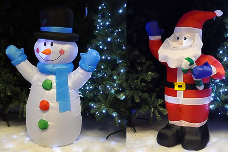1.2m Xmas Inflatable Garden Decoration – 2 Styles! for £19