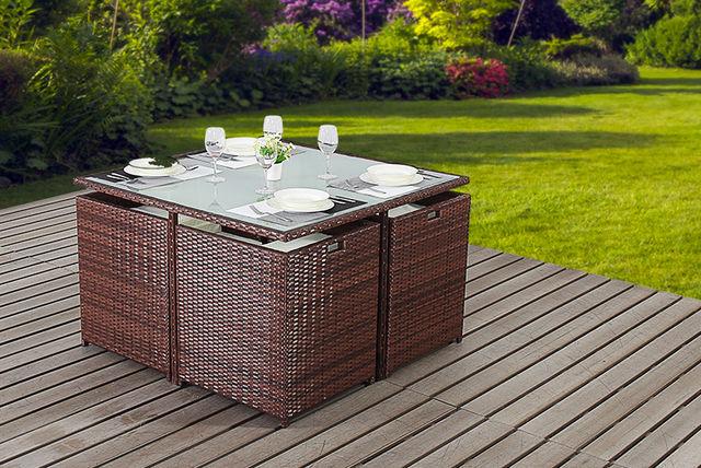 . 4 Seater Rattan Cube Furniture Set
