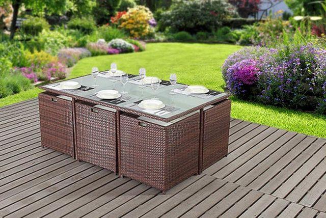 -Seater Rattan Cube Furniture Set