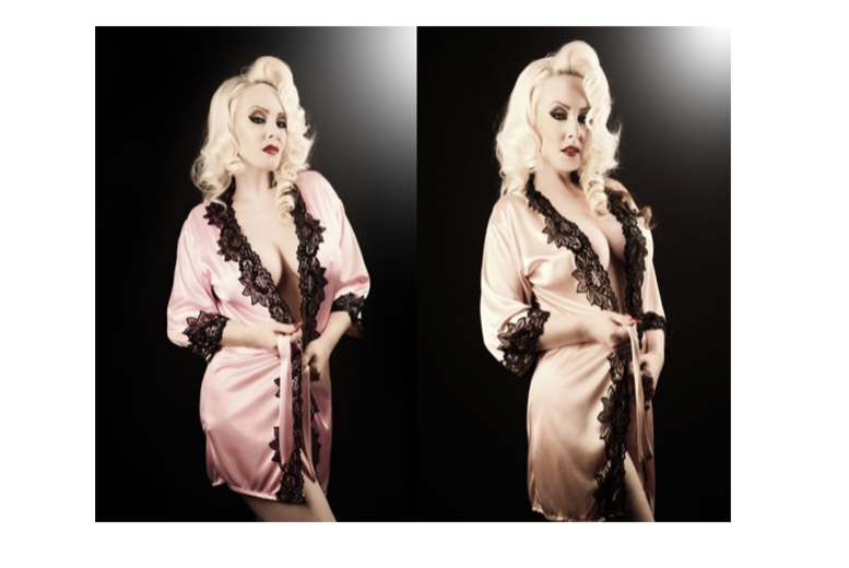 1940's Starlet-Inspired Lace Robe – 2 Colours! for £8