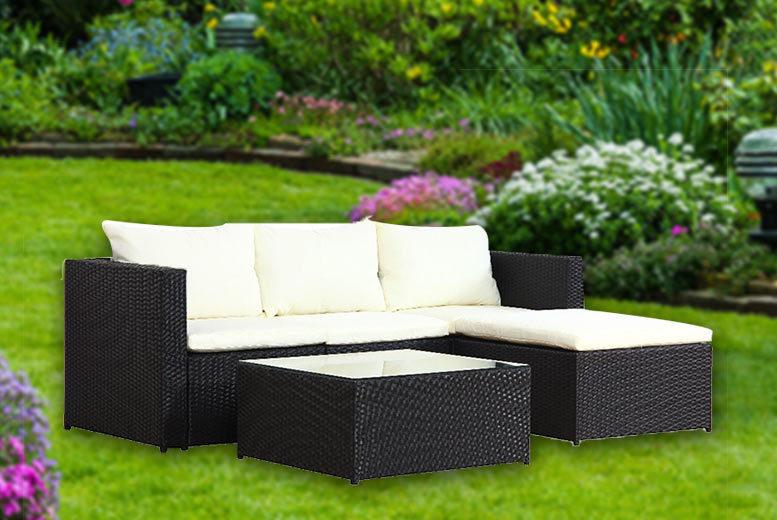 5pc Malaga Rattan Corner Sofa – 2 Colours! for £279