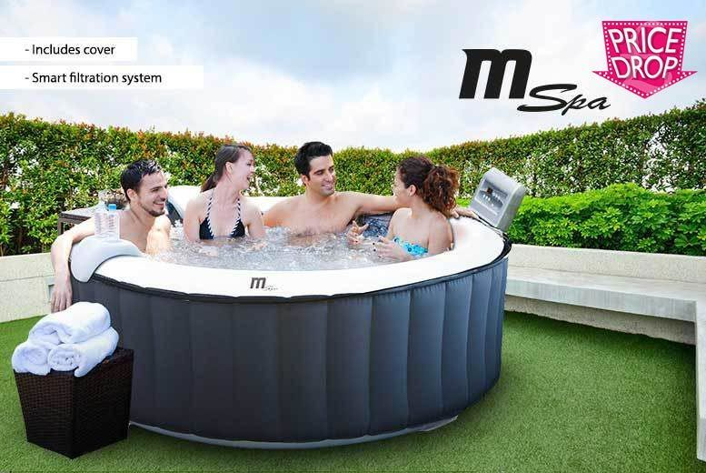 930L M-Spa Inflatable Hot Tub & Cover for £329