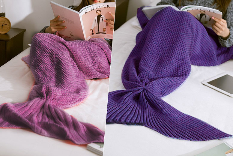 Mermaid Tail Blanket – 2 Colours! for £12