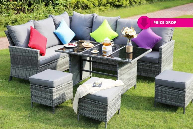 9-Seater Outdoor Corner Dining Set for £389