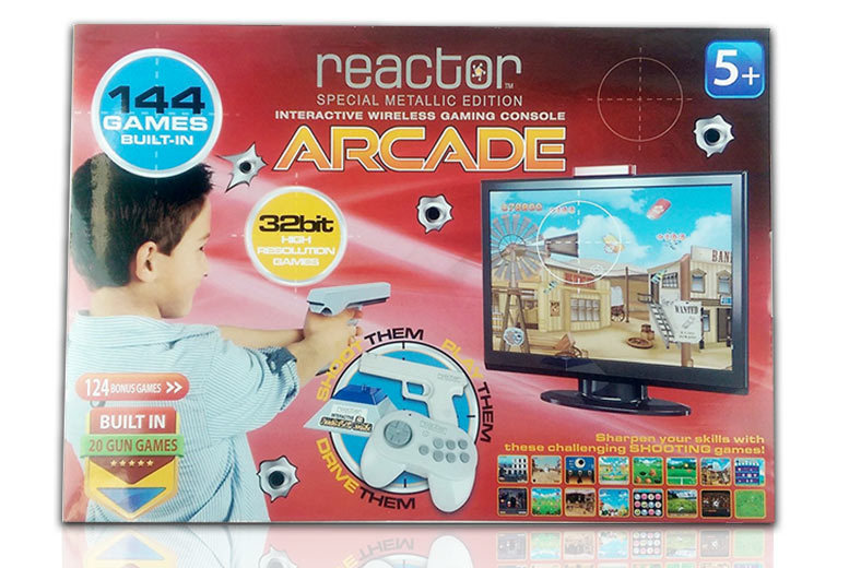 Wireless Multiplayer Arcade Gaming Console – 144 Built-In Games Included! for £34