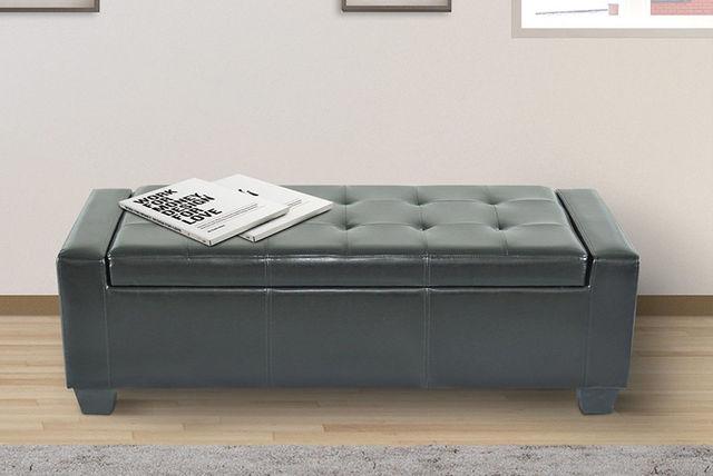 leather ottoman storage seat