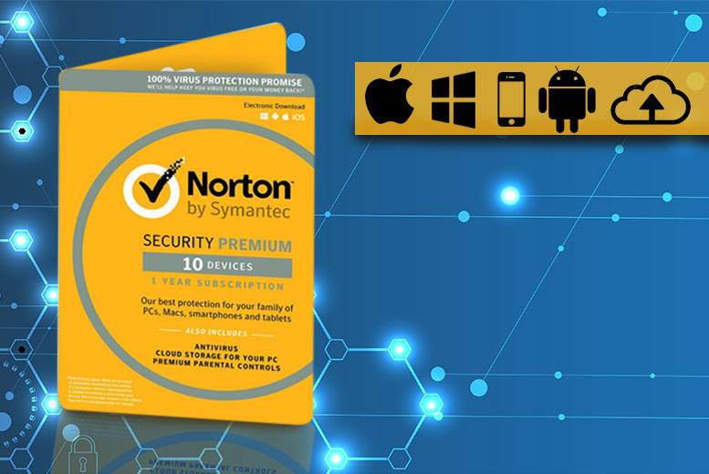 Norton Security 3.0 Premium Software Bundle for 3, 5 or 10 Devices from £26.99