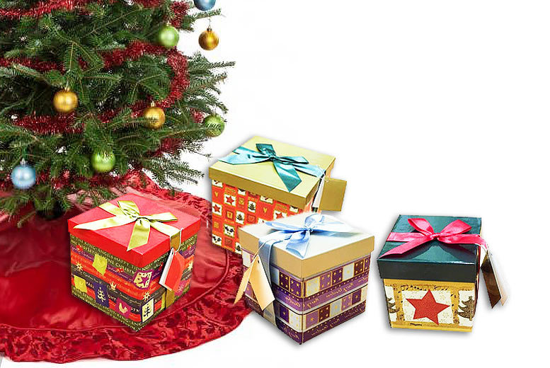 4 Christmas Gift Boxes for £7