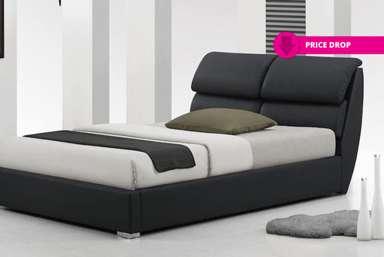 Libretto Leather Bed with Optional Memory or Spring Mattress