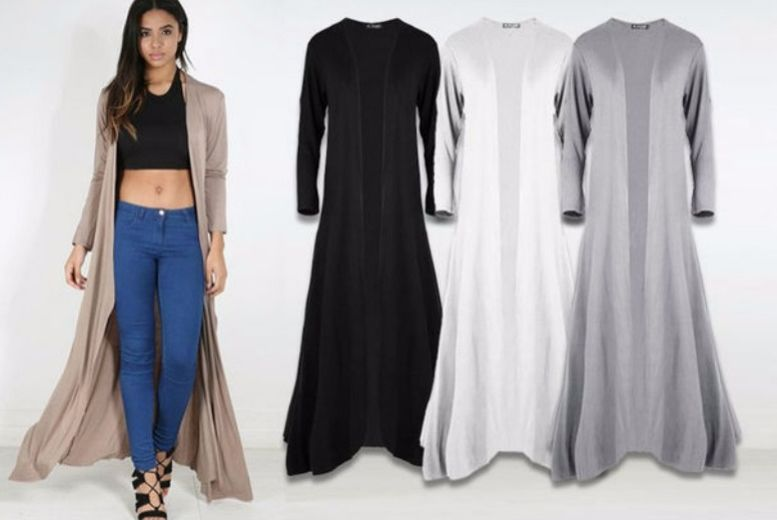 Maxi Cardigan – 7 Colours! for £10.99