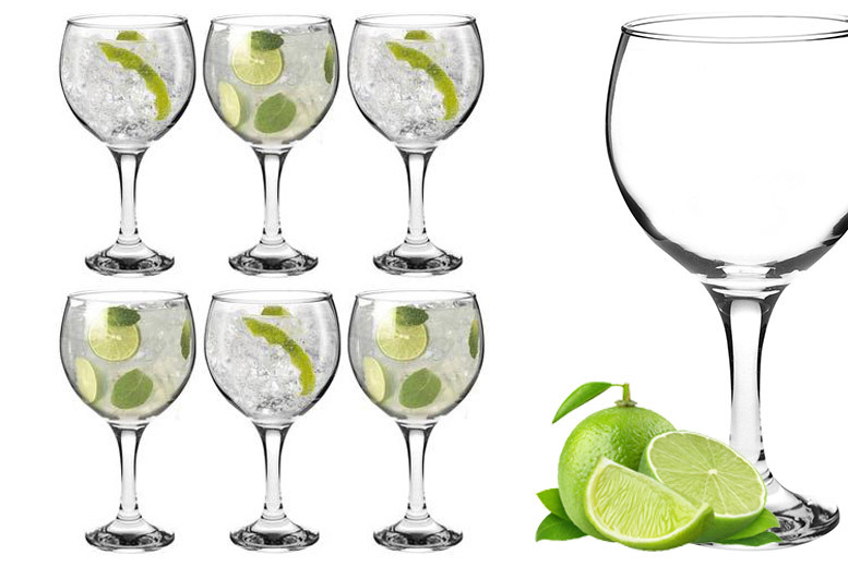 6pc Gin & Tonic Balloon Glass Set for £8.99