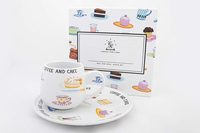 Luxury Crown Regal Mug and Plate Gift Set – 2 Designs! for £7.99