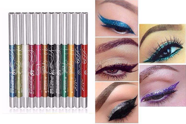 12 Eyeshadow, Eyebrow & Lip-Liner Pencils for £7.99