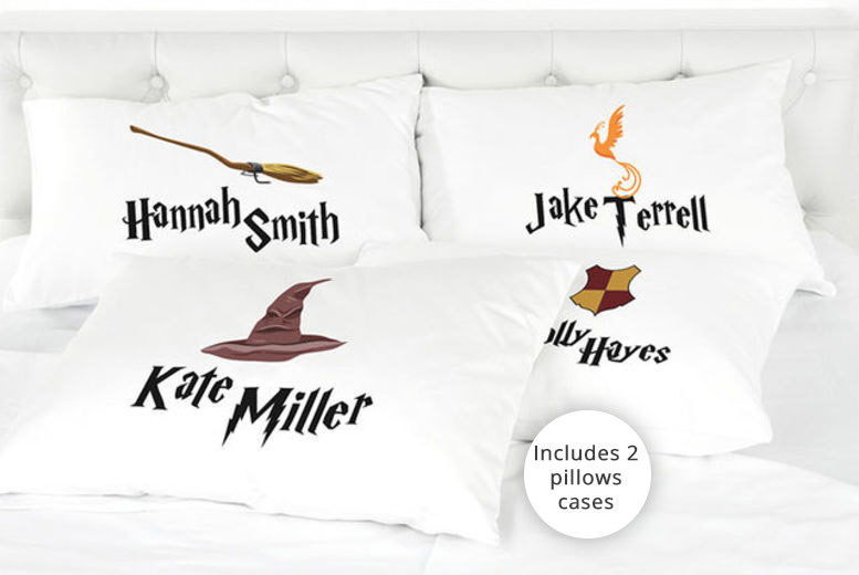 2 Personalised Kids' Harry Potter-Inspired Pillowcases for £7.99