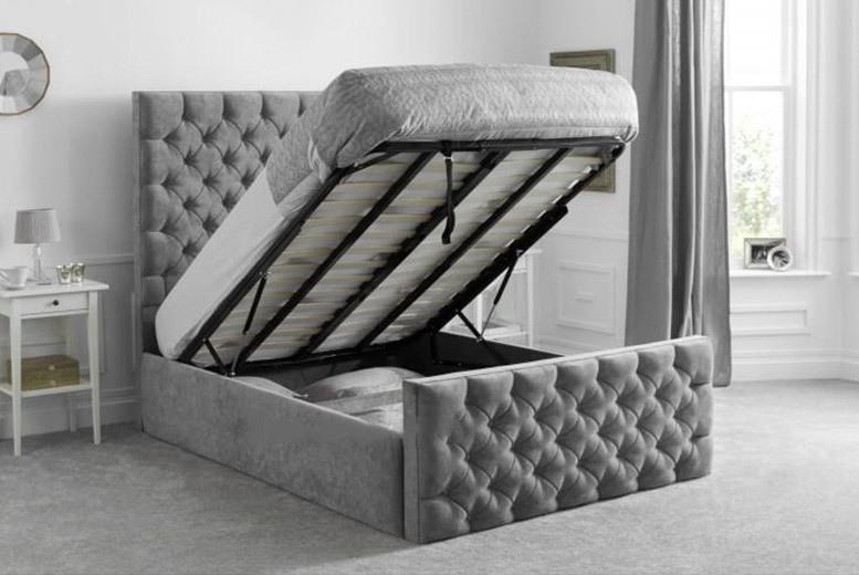 Vienna Chenille Ottoman Storage Bed - 2 Colours!