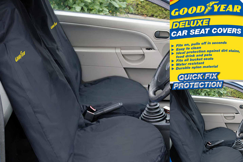 2 Goodyear Car Front Seat Covers for £12