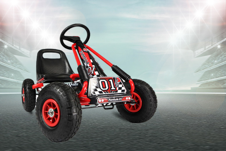 Two-Gear Pedal Go Kart – 3 Colours! from £69