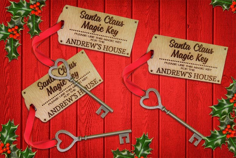 3 Personalised Keys for Santa for £3.99