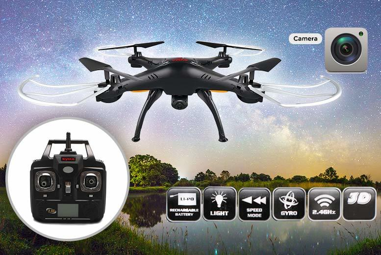 X5 Quadcopter Stealth Drone with HD Camera for £39