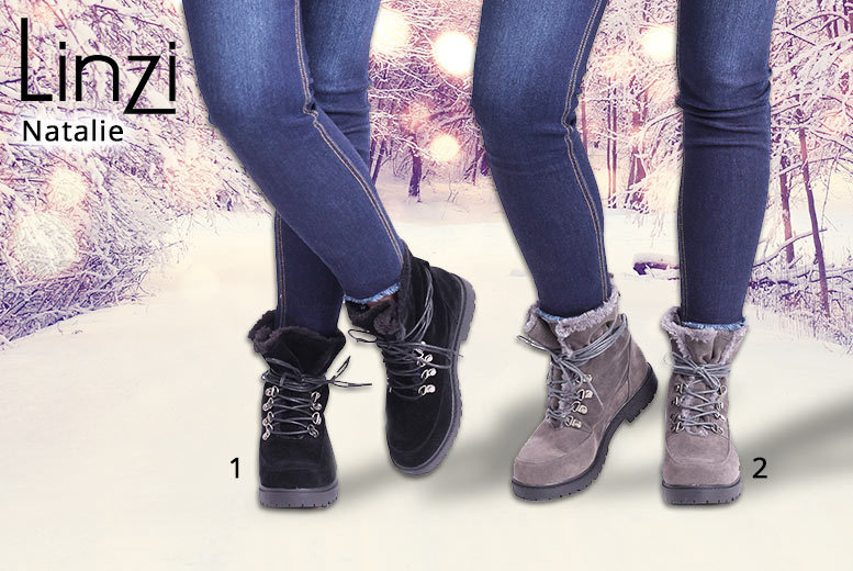 Women's Winter Lace-Up Boots – 2 Styles! for £9.99