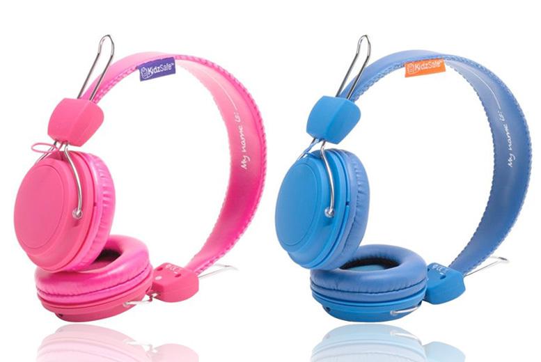 Sticker-Customisable KidzSafe™ Headphones – 2 Colours! for £9.99