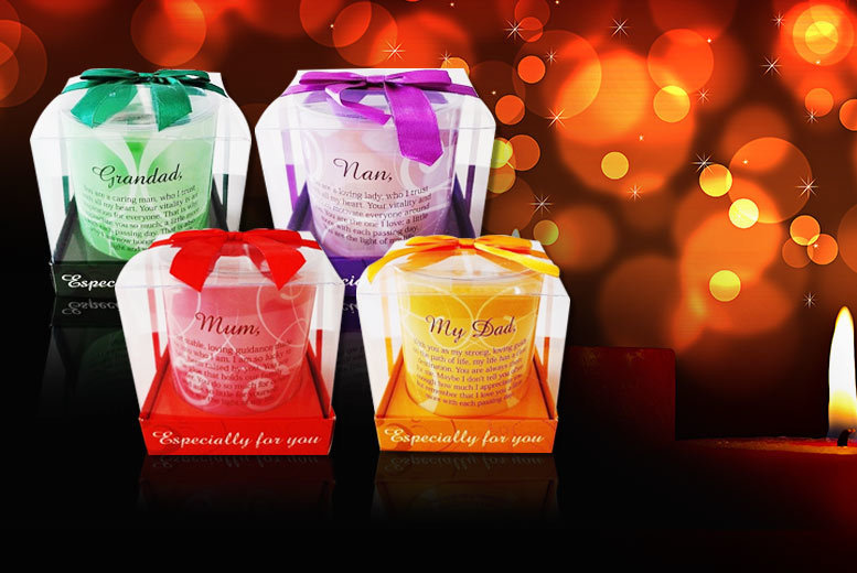 Especially For You' Candle – 6 Messages! for £5.99