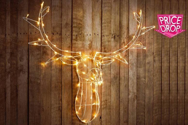 Large 80 LED Stag Head – 2 Colours! for £19.99