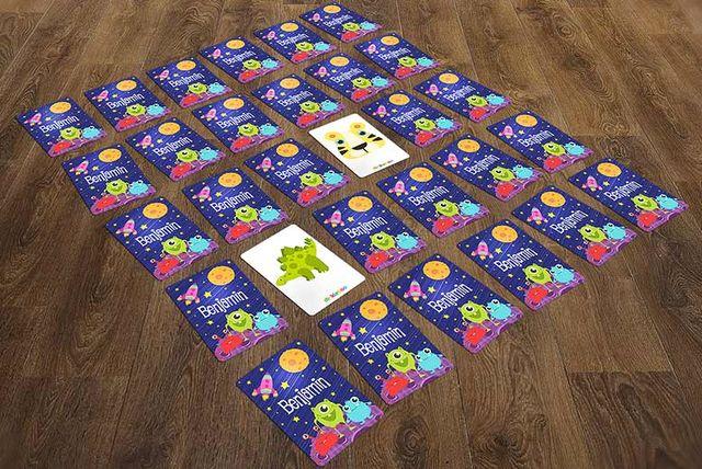 personalised animal card memory game