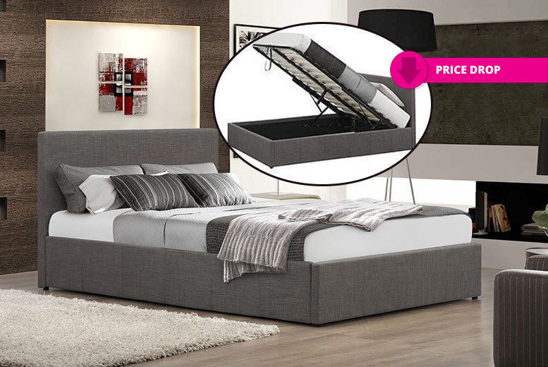 Fabric Gas Lift Ottoman Bed - with Optional Memory Mattress!