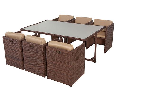 ESSENTI 6 CUBE RATTAN 2. 6 Seater Rattan Cube Furniture Set