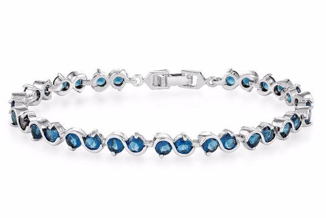 blue simulated sapphire bracelet