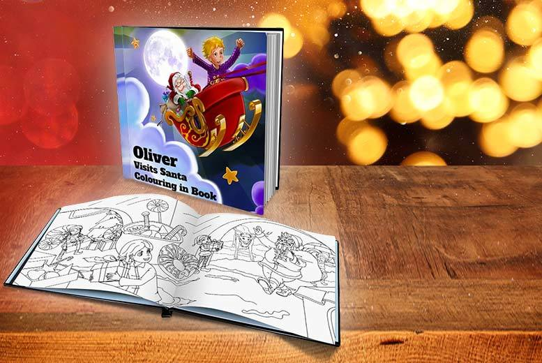 Personalised Kids Colouring Christmas Book from £4