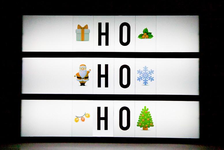 A4 Christmas Emoji LED Light-Up Box for £11